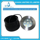 LEDによって引込められる水中プールライト