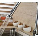La cocina de cobre amarillo del cromo saca el grifo