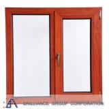 Деревянное окно наклона и поворота отделки зерна алюминиевое