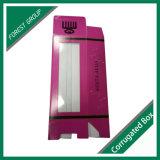 Rectángulo de papel acanalado de empaquetado de Kraft del rectángulo de la muñeca del PVC con la ventana clara del PVC