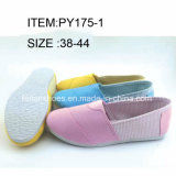 Новая впрыска женщин конструкции обувает ботинки отдыха плоские (FFPY0227-02)