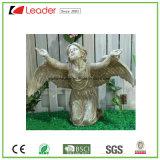 Het grote Ornament van de Tuin van het Beeldhouwwerk van de Engel Polyresin voor OpenluchtDecoratie