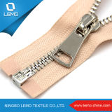 Zipper do metal do ouro da forma com cor dourada