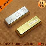 Regalos de encargo de la insignia que deslizan el mecanismo impulsor de oro del flash del USB de la barra (YT-1211)