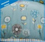 緑プラントはポリエステル羽毛布団カバー寝具セットを印刷した