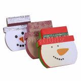 Rectángulo de regalo rígido de la Navidad del papel de la Tapa-apagado de la alta calidad