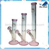 Vorbildliches Glasrohr des Rosa-hallo Miezekatze-Firmenzeichens S
