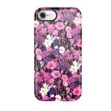 cas dur de configuration de nébuleuse de l'iPhone 7 de cas floral de téléphone cellulaire
