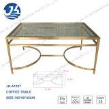 Mesa de centro de oro del acero inoxidable de la venta 2016 de la fábrica del metal de cristal caliente de la fuente