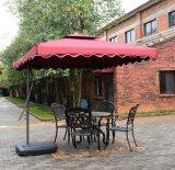 Parapluie extérieur en porte-à-faux de patio du jardin 8-1/2 pi avec résistant UV, 100% polyester, Bourgogne