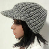 100% laines de l'Islande, chapeaux à crochet de mode fabriquée à la main avec la crête