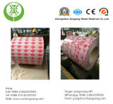 Van af:drukken van het Ontwerp van de Bloem Kleur Met een laag bedekt die van het Staal van de Rol Ppgi- Blad in China wordt gemaakt