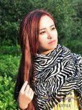 La bufanda larga de Cooleye Pantherine de la impresión blanco y negro más de moda del leopardo