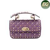 As bolsas de couro reais do estilo europeu encheram sacos de ombro das senhoras com corrente Emg4896 do metal