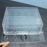 Organisateur de plastique acrylique fait sur commande de cil avec le logo