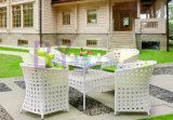 PE Rattan Outdoor Table and Chair Set, Jardim confortável