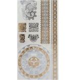 Etiquetas engomadas temporales impermeables metálicas de plata del tatuaje del oro