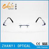 Het lichtgewicht Randloze Frame van de Glazen van Eyewear van het Oogglas van het Titanium Optische met Scharnier (5006) - C