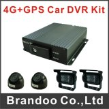 Ahd 4CH SD Card DVR portátil gravador de vídeo digital, 3G Car DVR com GPS Tracker