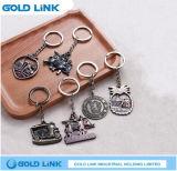 Regalo de encargo retro Keyholder de la promoción del anillo dominante del metal del encadenamiento dominante