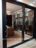 Schuifdeur van het Aluminium van het Glas van de Verkoper van Guangdong Woodwin de Hete Dubbel Aangemaakte (ys-100A)