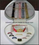 변하기 쉬워 결박 및 변하기 쉬워 반지를 가진 숙녀 선물 고정되는 시계