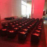 Batteriebetriebener Radioapparat LED des Qualitäts-kann neuer Produkt-4*18W 6in1 Rgbaw UVNENNWERT Licht des IRC-Fernsteuerungsstadiums-6/10CH