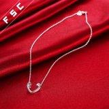 銀は女性のための個人化された開いた中心の吊り下げ式のネックレスをめっきした