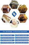 Kundenspezifische Spitzen- und Luxuxbrown-Edelstahl-Bildschirmanzeige-Regal-Möbel