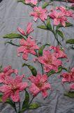 Tessuto del ricamo del reticolo di fiore per Dressing e la tessile domestica della signora