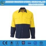 Chemises uniformes r3fléchissantes colorées lumineuses de chemise de travail de franc de chemises de Mens de modèle neuf