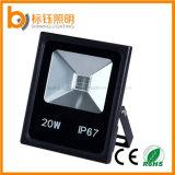 Lumière d'inondation fonctionnante extérieure ultra-mince de l'ÉPI IP67 DEL de l'éclairage AC85-265V 20W de Graden