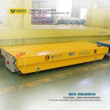 Il carrello ferroviario di maneggio del materiale del trasporto degli oneri gravosi si è applicato in fabbrica d'acciaio