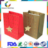Brillante superficie regalo embalaje bolsa con decoración estrella