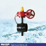 Válvula de mariposa concéntrica del extremo Grooved material de Di/CS/Ss/Di de la válvula de Tianjin Exxon