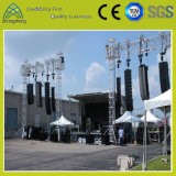 整形LED可聴周波健全なハングアルミニウムラインアレイスピーカーの立場のトラス