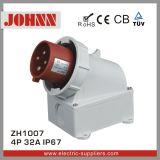 Fiche industrielle montée extérieure d'IP67 4p 32A