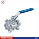 Válvula de esfera rosqueada do RUÍDO do aço inoxidável do fabricante Pn63 3PC