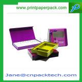 ボックス磁気閉鎖のギフト用の箱を包む方法によって印刷されるFoldable化粧品