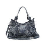 O Cowgirl elegante rebita o saco das senhoras da sarja de Nimes dos cristais (MBNO042136)