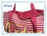 Streifen-Art-Rückseiten-Farben-heißer verkaufenstrand-Segeltuch-Beutel