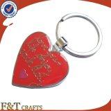 Metal Shaped Keychain do coração feito sob encomenda barato dos pares do casamento