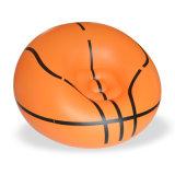 Runde Form-einzelner Basketball Belüftung-aufblasbares Sofa