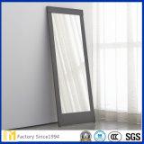 Espejo grande de plata del suelo de Frameless de la frontera biselada de Whloesale para la sala de estar
