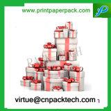Het Mooie Aangepaste Vakje van uitstekende kwaliteit van de Gift van het Document van het Lint van het Karton