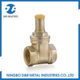 Válvula de porta de bronze Lockable da água da qualidade de Hight