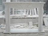 Weißer feiner Kamin-Marmorierungkaminsims für Wohnzimmer