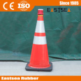 Orange / Jaune / Vert / Vert lime PVC flexible Traffic Safety Cone Reflector