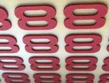 etiquetas da transferência térmica de Priniting da espessura 3D para o logotipo do tipo dos t-shirt