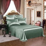 Taihuの雪の絹の優雅シリーズOeko-Tex 100の標準絹の継ぎ目が無い寝具19mommeの実質の贅沢なアーティチョークの緑の純粋なクワ絹シートセット